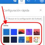 Como cambiar el tema del nuevo Outlook